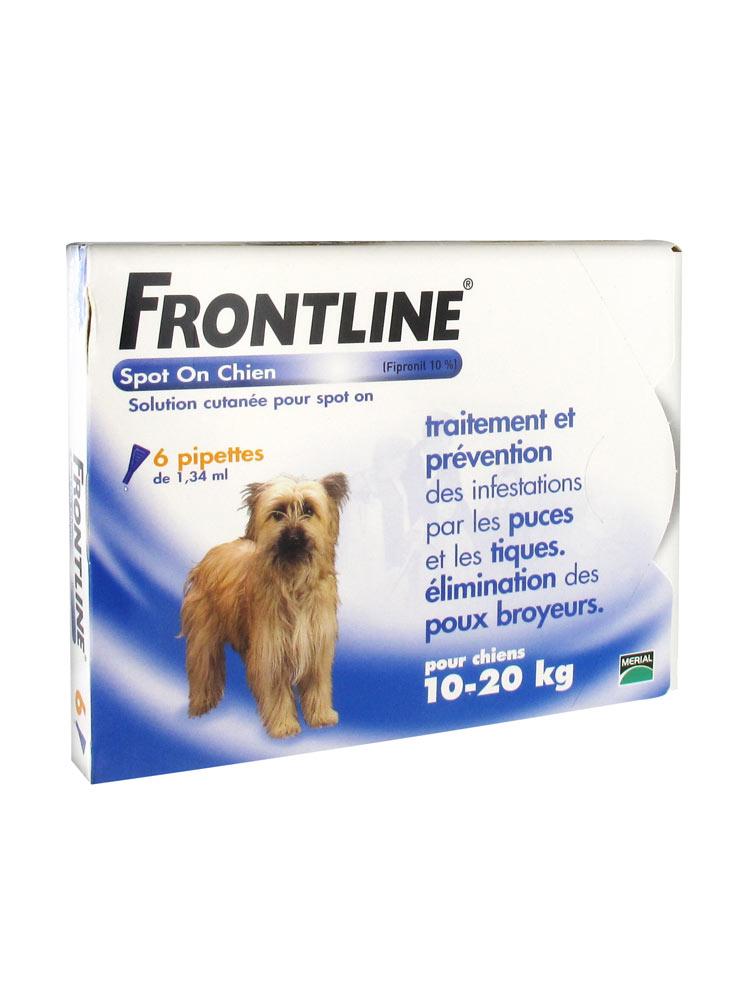 frontline spot on hund m 10 20 kg 6 pipetten. Black Bedroom Furniture Sets. Home Design Ideas