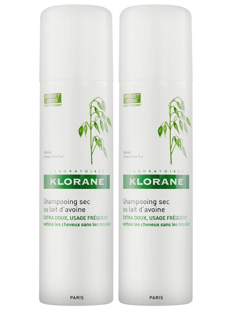 Klorane Gentle Dry Shampoo with Oat Milk Powder Spray 2 x