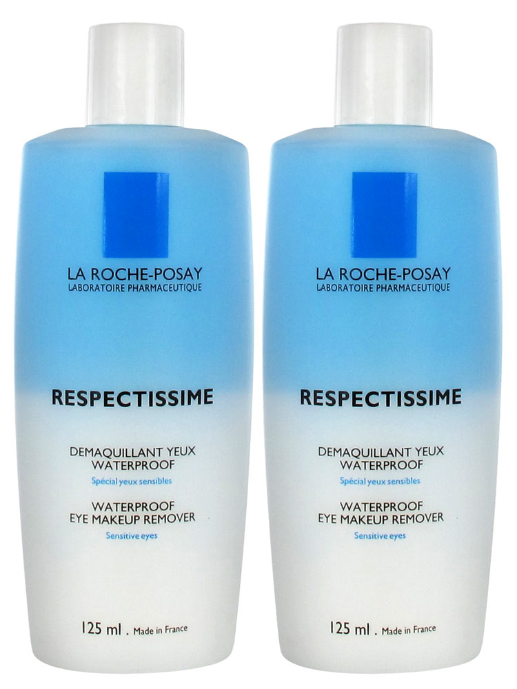 La Roche-Posay Respectissime Waterproof Eye Makeup Remover 2 x 125ml