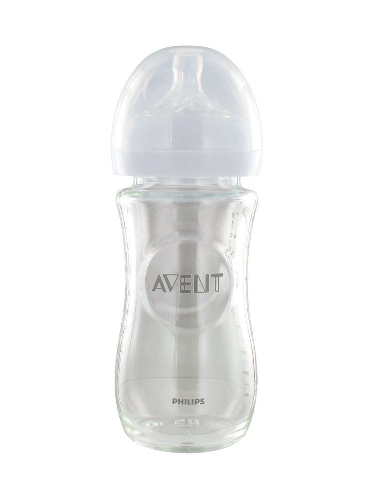 Avent Natural Baby Bottle Pure And Resistant Glass 240ml 1 Month