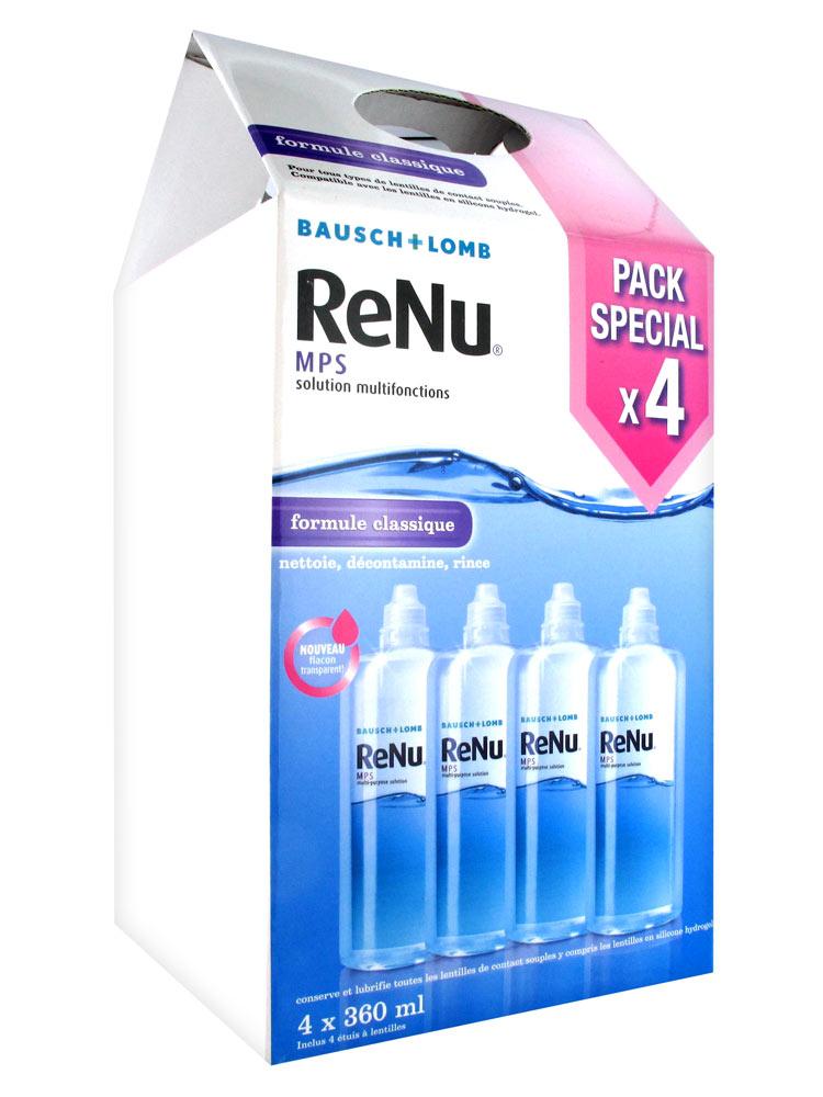 Bausch + Lomb ReNu MPS Multi-Purpose Solution 4 x 360ml