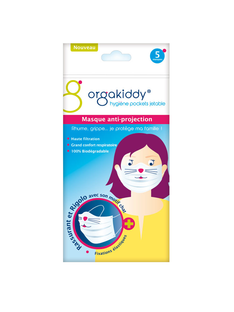 Orgakiddy mask anti projection kid 5 masks buy at low for Anti projection cuisine