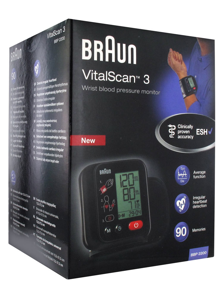 braun wrist blood pressure monitor instructions