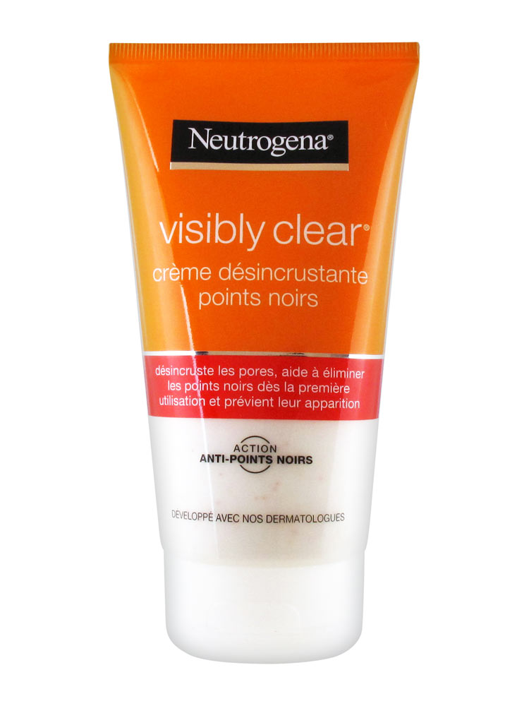 neutrogena visibly clear black spots scrub cleansing cream 150ml. Black Bedroom Furniture Sets. Home Design Ideas
