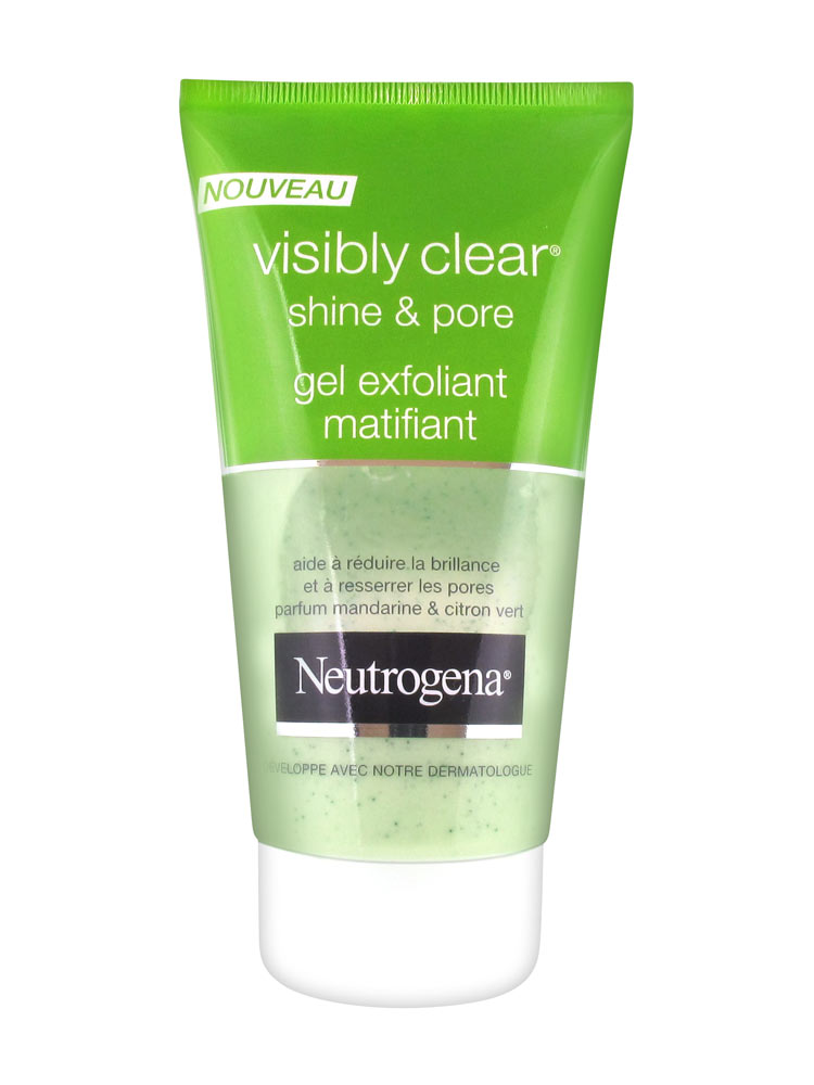neutrogena visibly clear shine pore gel exfoliant matifiant 150 ml. Black Bedroom Furniture Sets. Home Design Ideas