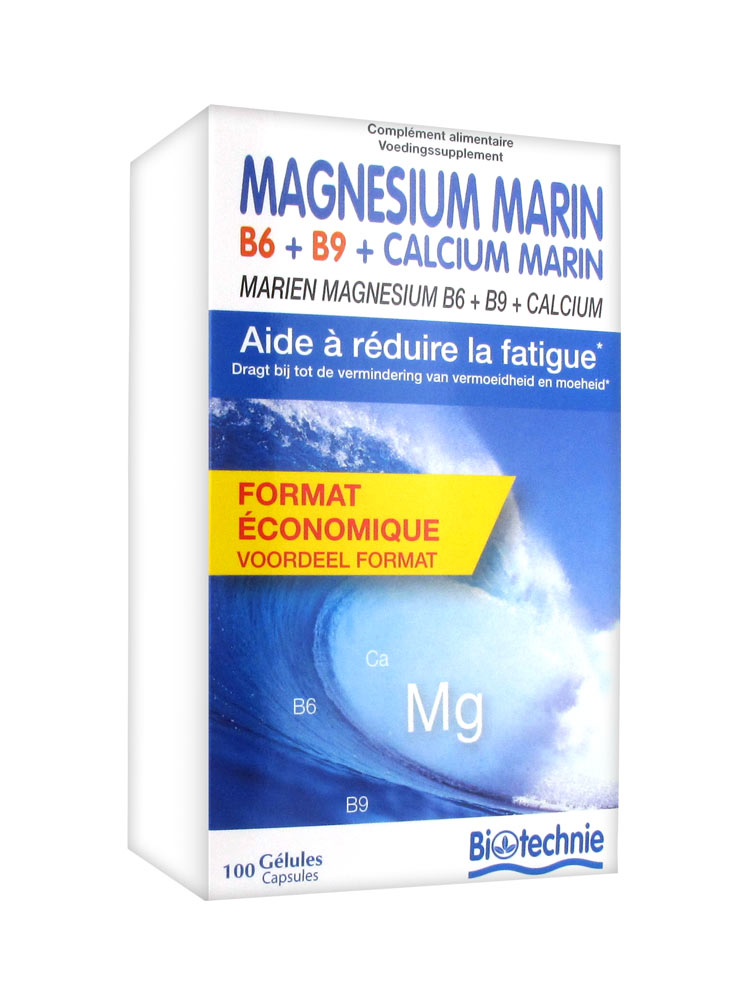 biotechnie magnesium marin b6 b9 calcium marin 100 g l prix bas ici. Black Bedroom Furniture Sets. Home Design Ideas