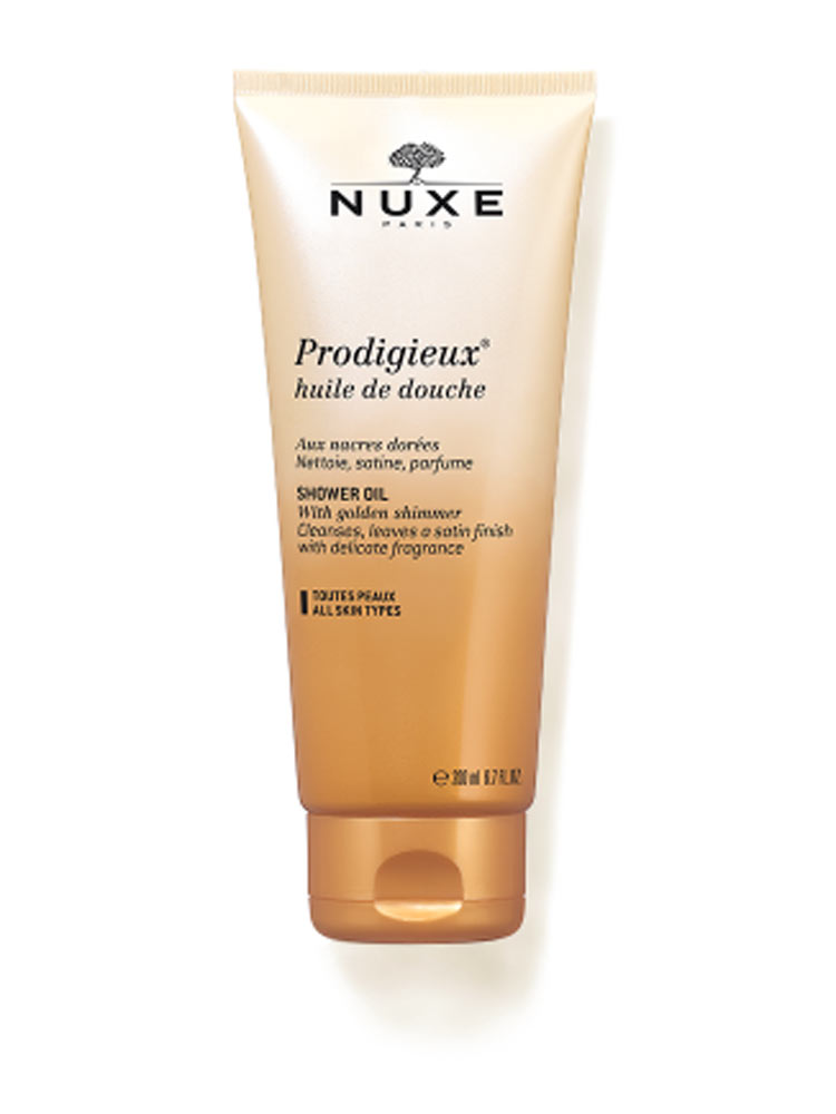 nuxe prodigieux shower oil 200ml buy at low price here. Black Bedroom Furniture Sets. Home Design Ideas