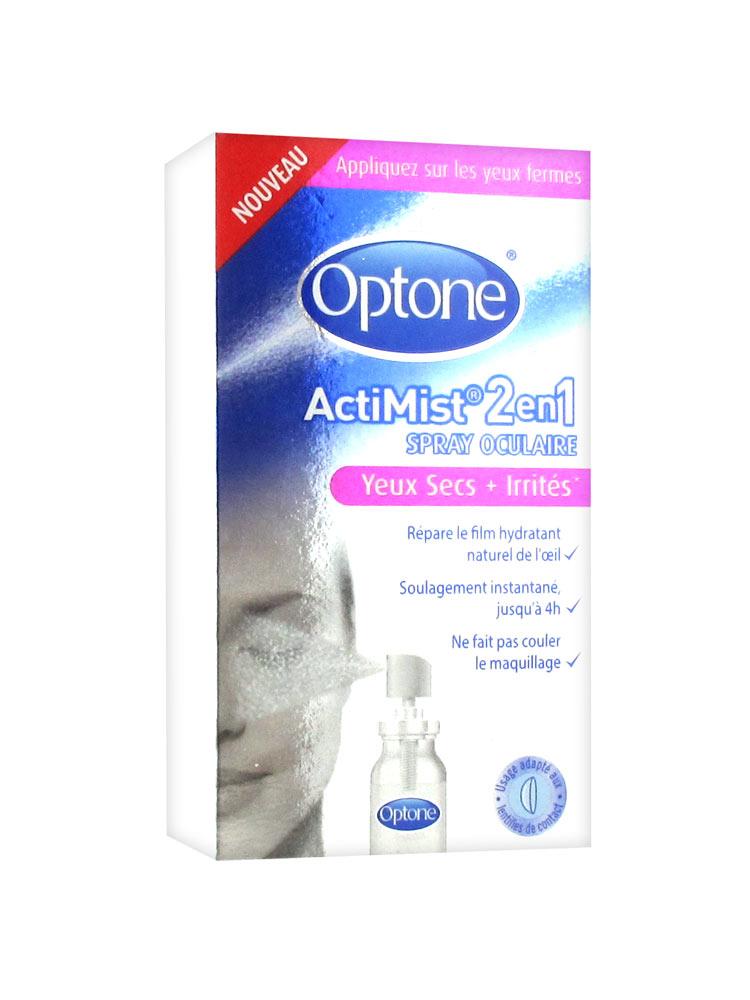 Optone ActiMist 2 en 1 Spray Oculaire Yeux Secs et Irrités 10 ml 25751a8302ce