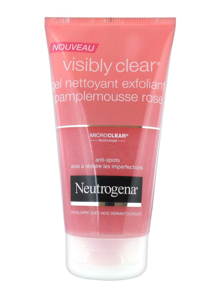 neutrogena visibly clear exfoliating cleansing gel pink grapefruit 150ml. Black Bedroom Furniture Sets. Home Design Ideas