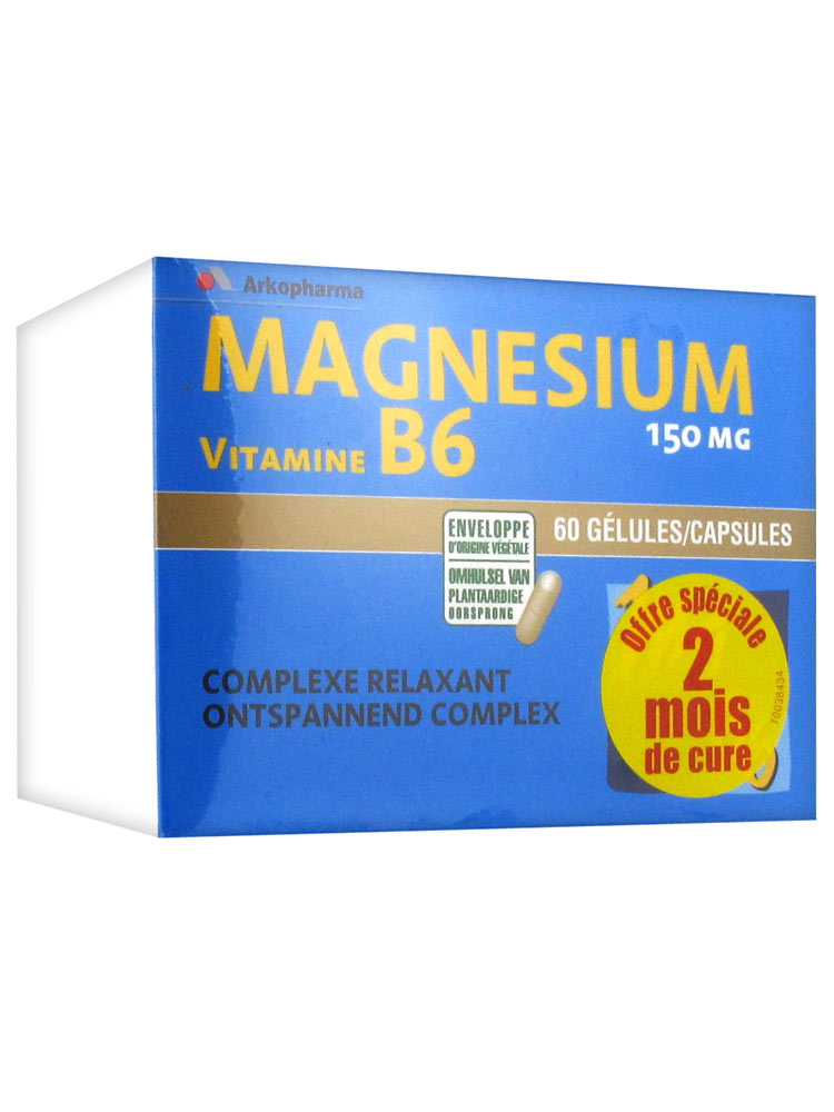 arkopharma magnesium b6 2x60capsules buy at low price here. Black Bedroom Furniture Sets. Home Design Ideas