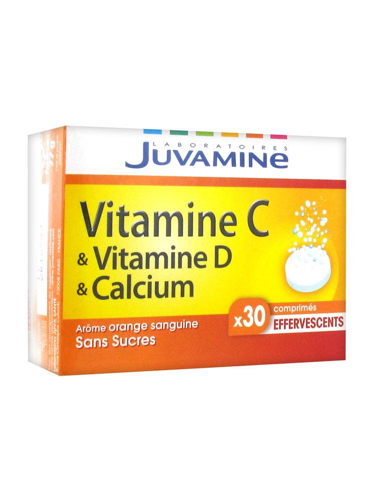 Juvamine vitamine c vitamine d calcium 30 comprim s for Vitamine pour grossir