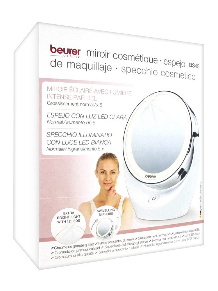 Beurer miroir cosm tique clair par del bs49 acheter for Beurer miroir lumineux bs49