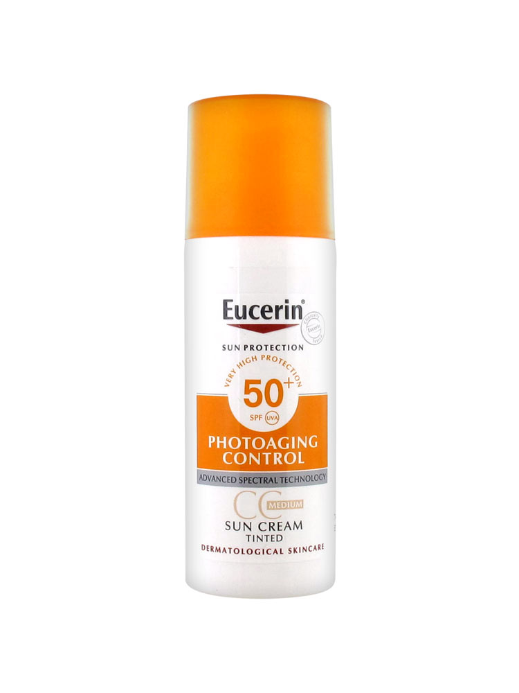 eucerin sun protection sun creme cc creme spf 50 50ml. Black Bedroom Furniture Sets. Home Design Ideas