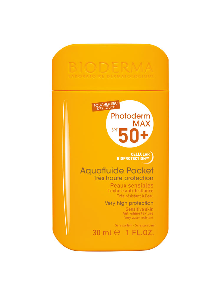 bioderma photoderm max spf 50 aquafluide pocket 30ml. Black Bedroom Furniture Sets. Home Design Ideas