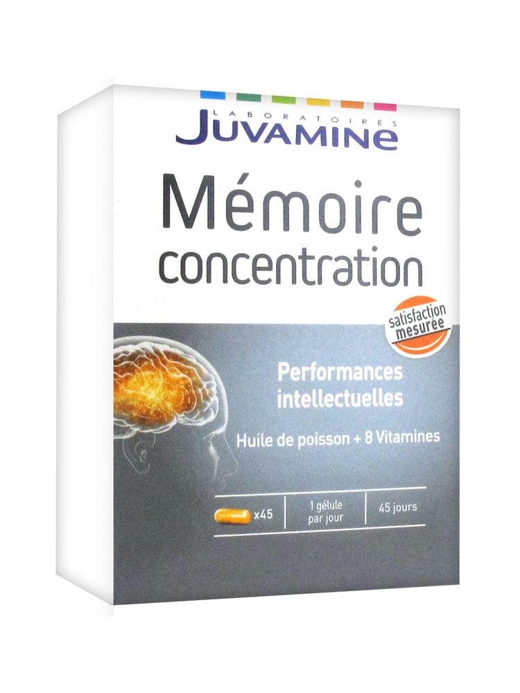 4a1b8a12375ee Juvamine Mémoire Concentration 45 Gélules