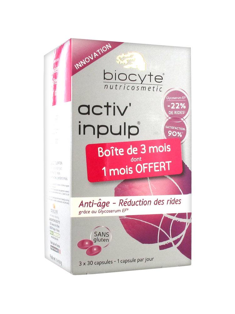 Biocyte Activ' Inpulp 3 x 30 Capsules - Acheter à prix bas ici
