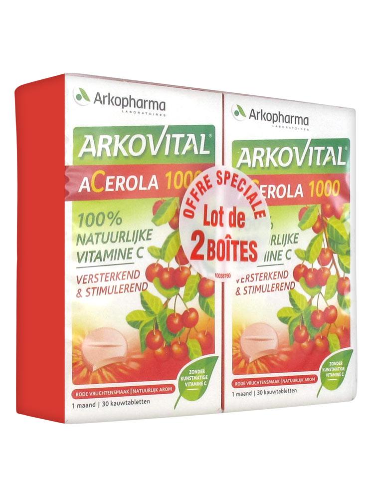 Lot De 1000 Etiquettes Prix Ficelle Blanche 3 Tailles: Arkopharma Arkovital Acerola 1000 Lot De 2 X 30 Comprimés