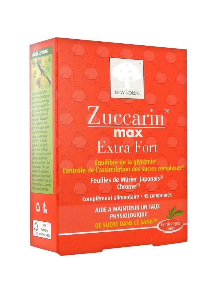 new nordic zuccarin max extra fort 45 comprim s acheter prix bas ici. Black Bedroom Furniture Sets. Home Design Ideas