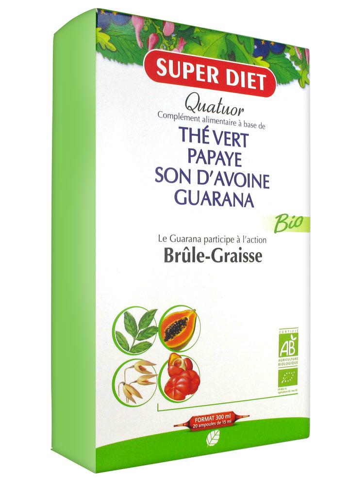 Super diet quatuor bio br le graisse 20 ampoules achat prix bas ici - Nettoyer graisse brulee four ...