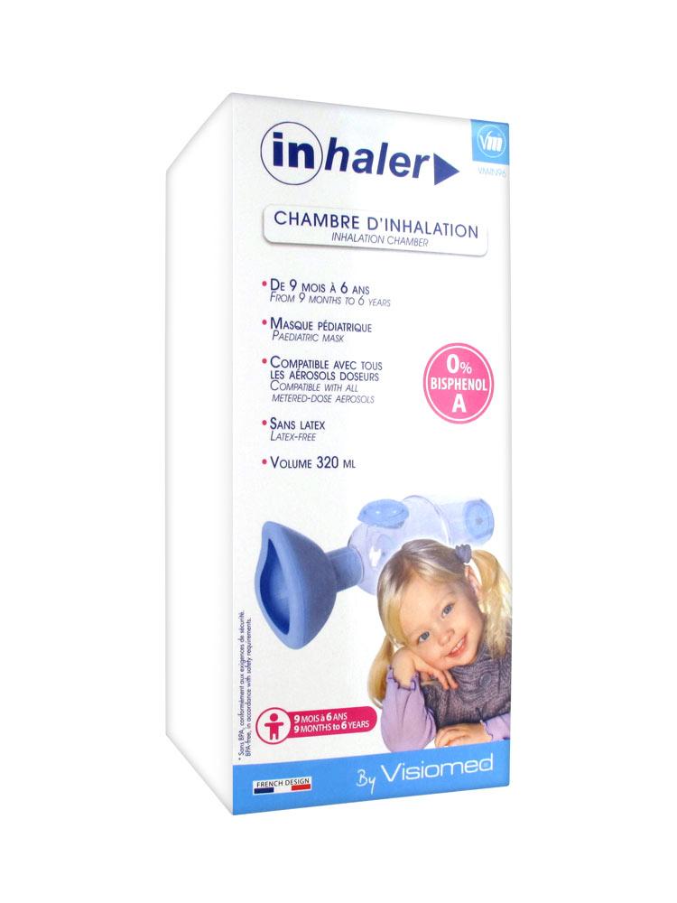 Visiomed inhaler chambre d 39 inhalation 9 mois 6 ans for Chambre d inhalation