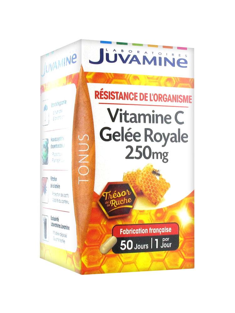 Juvamine Vitamine C Gelée Royale 250 mg 50 Gélules - Prix