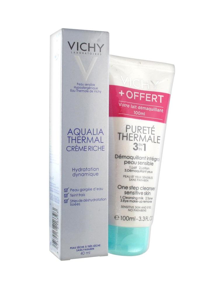 vichy aqualia thermal rich cream 40ml free cleanser 100ml. Black Bedroom Furniture Sets. Home Design Ideas
