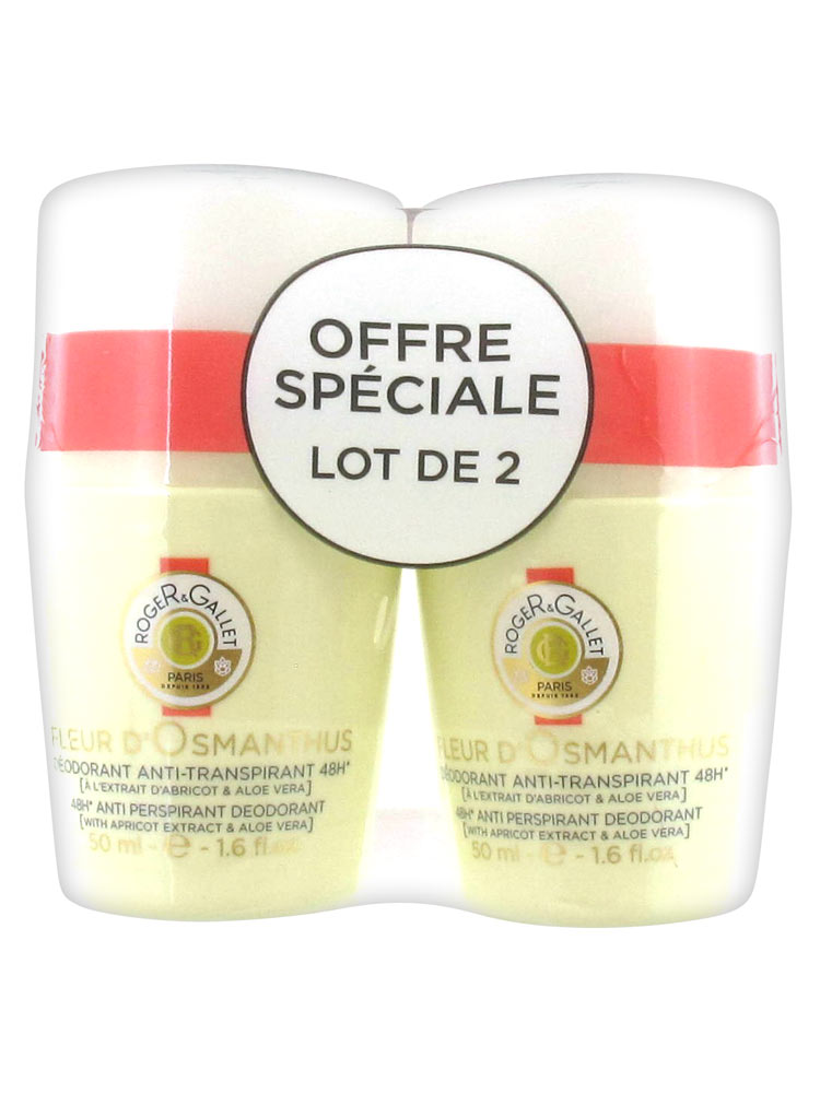 Roger Gallet 48h Anti Perspirant Deodorant Fleur D Osmanthus 2 X 50ml