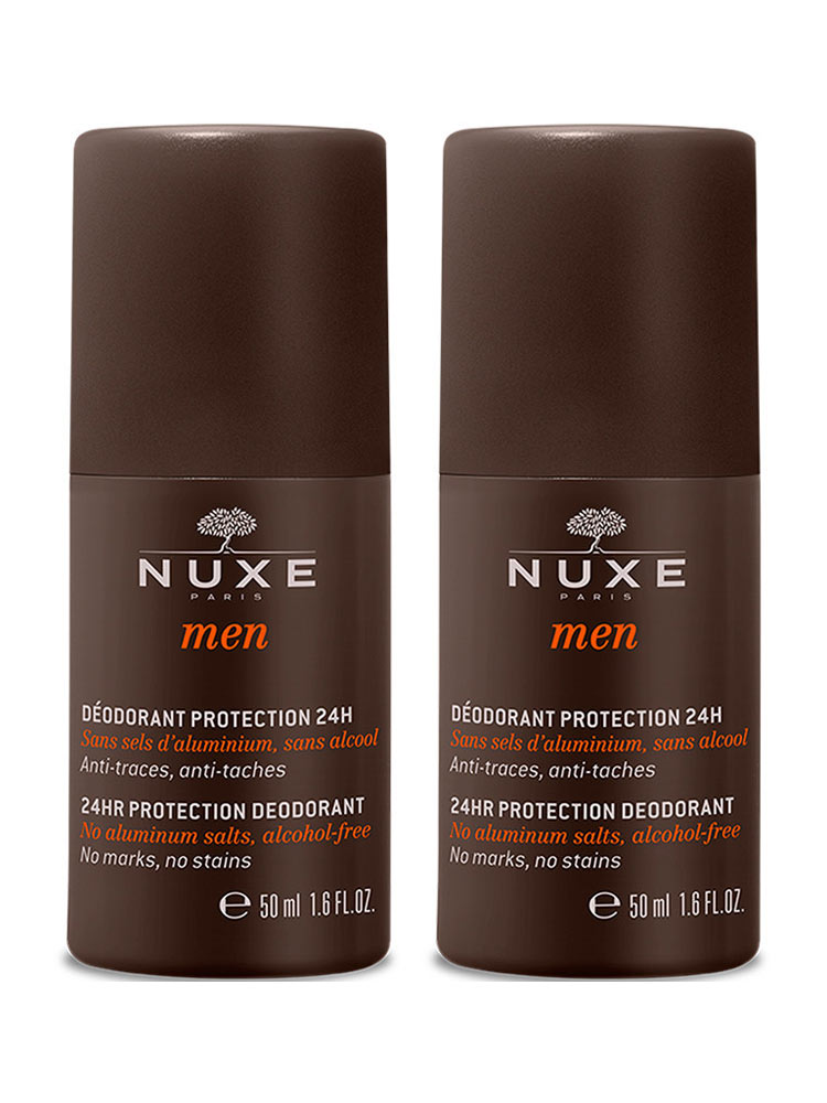 nuxe men 24hr protection deodorant 2 x 50ml buy at low price here. Black Bedroom Furniture Sets. Home Design Ideas