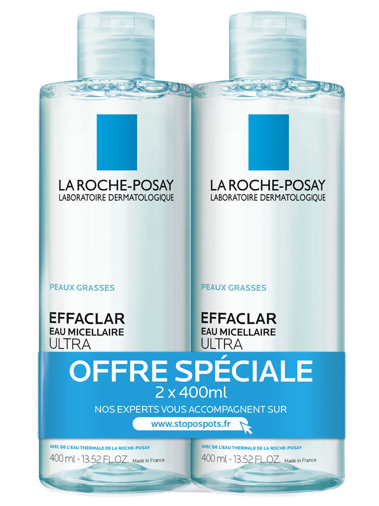 la roche posay effaclar ultra purifying micellar water 2 x 400ml. Black Bedroom Furniture Sets. Home Design Ideas