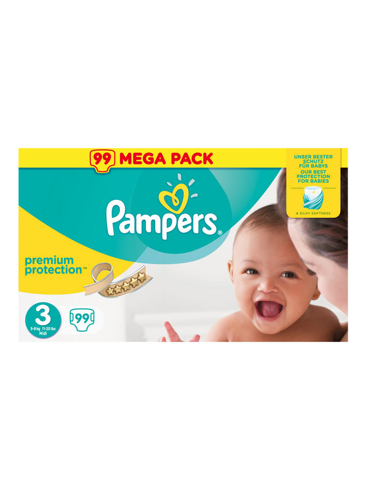 Pampers Premium Protection 99 Couches Taille 3 5 9 Kg Prix Bas Ici