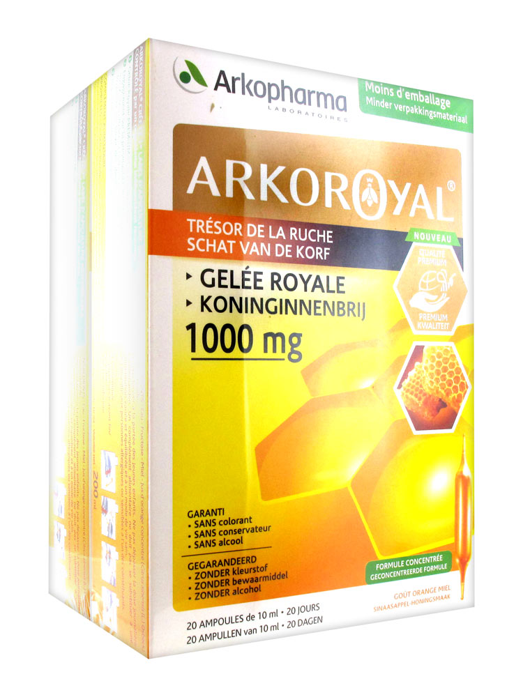 Lot De 1000 Etiquettes Prix Ficelle Blanche 3 Tailles: Arkopharma Arko Royal Trésor De La Ruche Gelée Royale 1000
