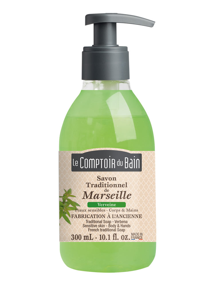 le comptoir du bain verbena marseille traditional soap 300ml. Black Bedroom Furniture Sets. Home Design Ideas