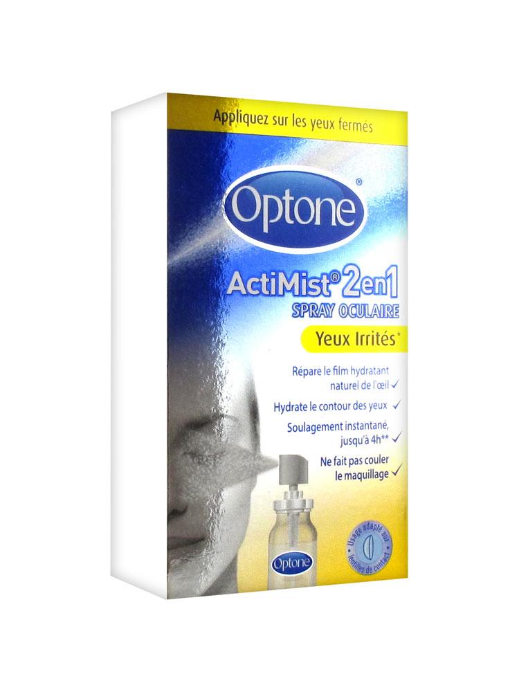 Optone ActiMist 2 en 1 Spray Oculaire Yeux Fatigués et Inconfort 10 ml 064479c58e11