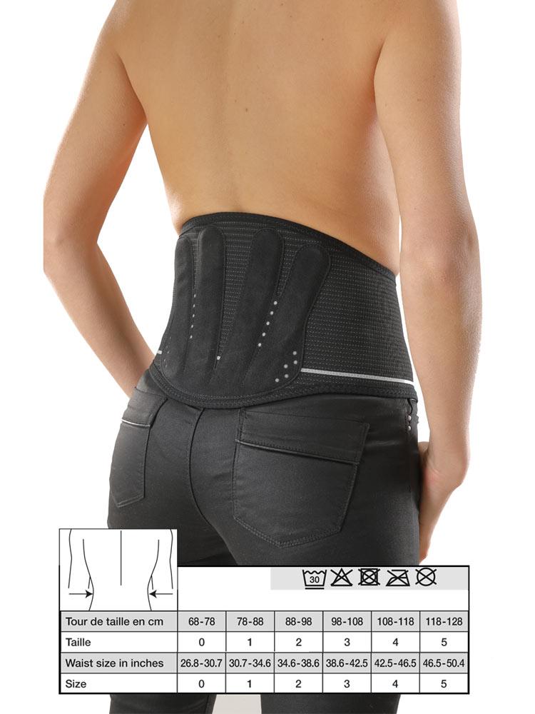 commander en ligne dernières tendances codes promo Gibaud Lombogib Underwear Ceinture Lombaire Noire 26 cm - Taille : Taille 0