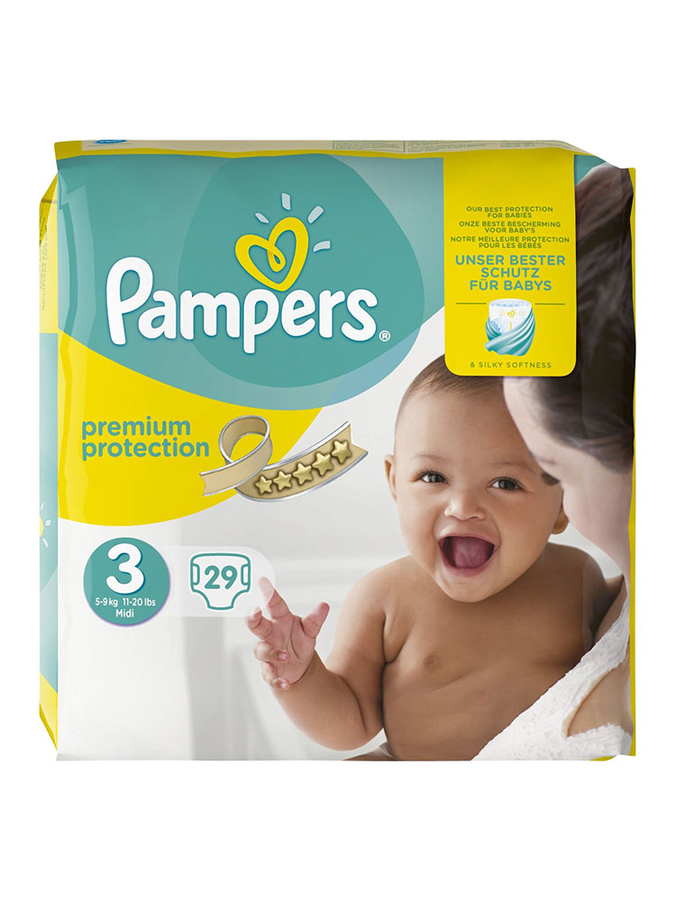 Pampers premium protection 29 couches taille 3 5 9 kg - Couches pampers taille 3 ...