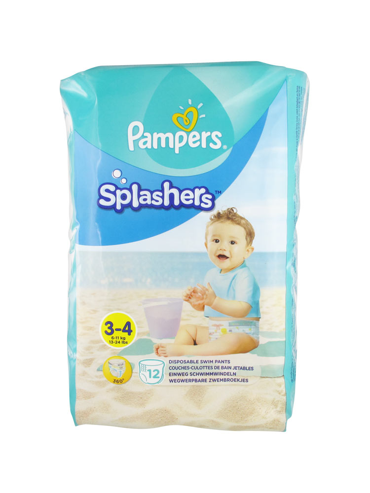 Pampers splashers 12 couches culottes de bain jetables taille 3 4 6 11 kg - Couches culottes pampers ...