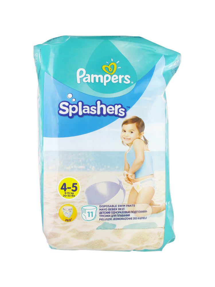 Pampers splashers 11 couches culottes de bain jetables taille 4 5 9 15 kg - Couches culottes pampers ...
