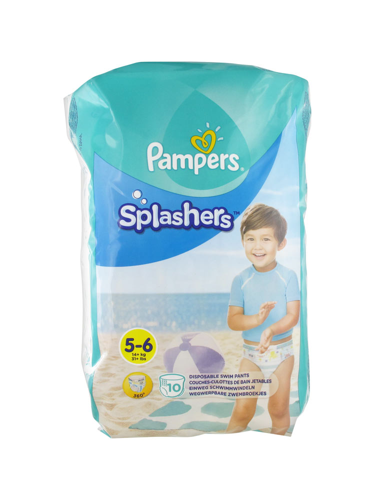 Pampers splashers 10 couches culottes de bain jetables taille 5 6 14 kg - Couches culottes pampers ...