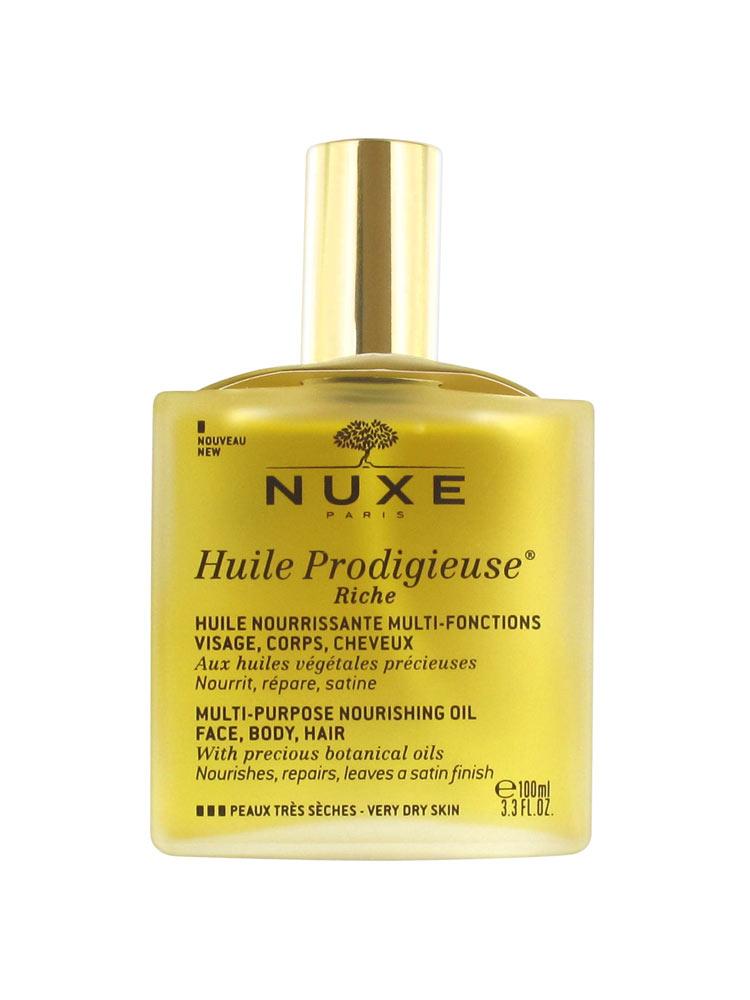 Nuxe Huile Prodigieuse Riche Visage-Corps-Cheveux 100 ml - Prix bas ici da2f10e8fbe