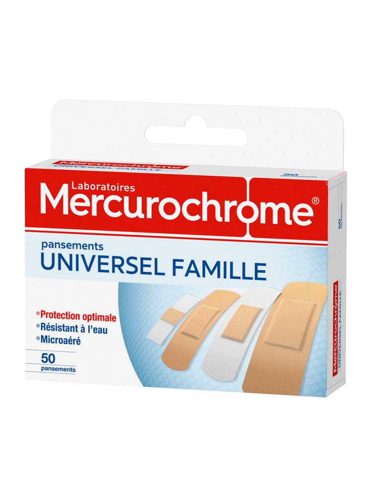 Mercurochrome Universel Famille 50 Pansements - Acheter à prix bas ici 3e43be2cf53b