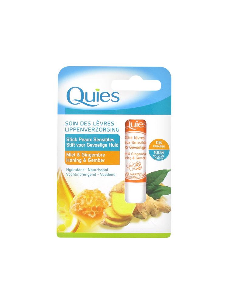 Quies Lips Care Sensitive Skins Stick Honey Ginger 45g