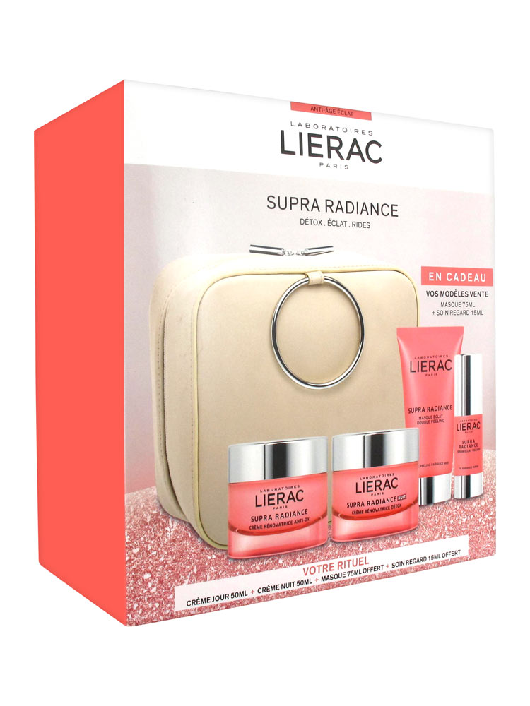 ba6401bdb194 Lierac Set Supra Radiance Anti-Ox Renewing Cream 50ml + Night Cream 50ml +  Free