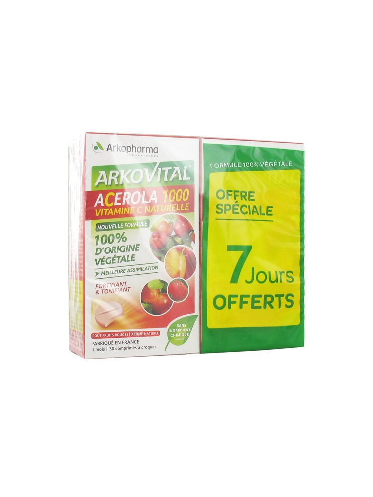 acerola 1000  Arkopharma Arkovital Acerola 1000 2 x 30 Tablets | Buy at Low Price Here
