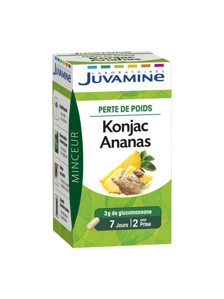 Juvamine Phyto Konjac Ananas 42 Gélules - Acheter à prix
