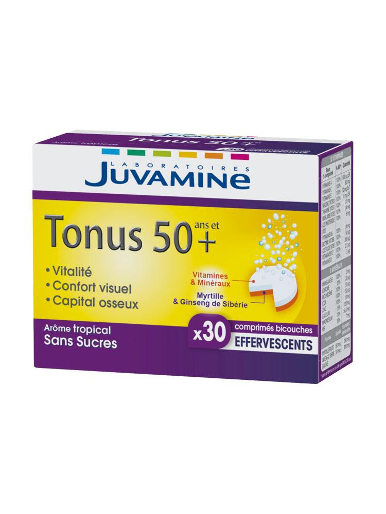 32da4eaaa0595 Juvamine Tonus 50 Ans et + 30 Comprimés Effervescents