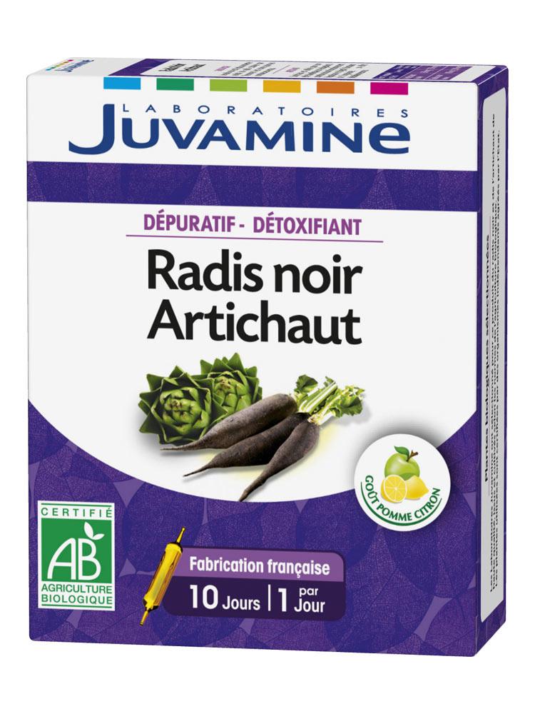 Juvamine Radis Noir Artichaut 10 Ampoules