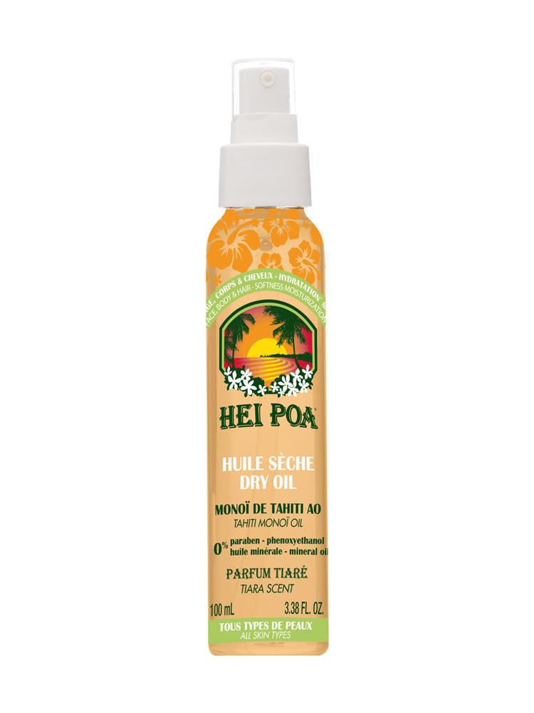 Hei Poa Dry Oil with Tahiti Monoi Oil Tiara Scent 100ml