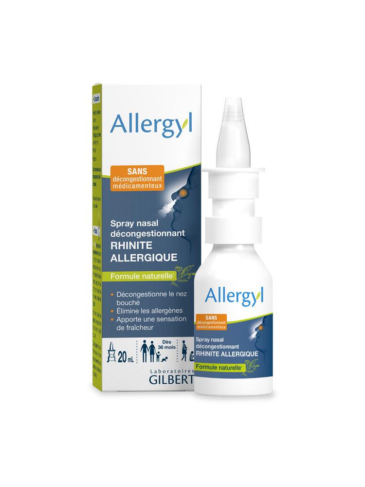Rhinite Allergique 20 Spray Gilbert Décongestionnant Ml Nasal Allergyl A3Lj54R