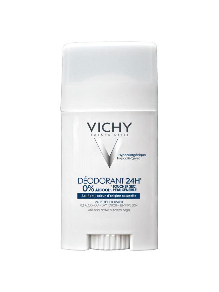 vichy 24h deodorant sensitive skin aluminium free stick 40ml