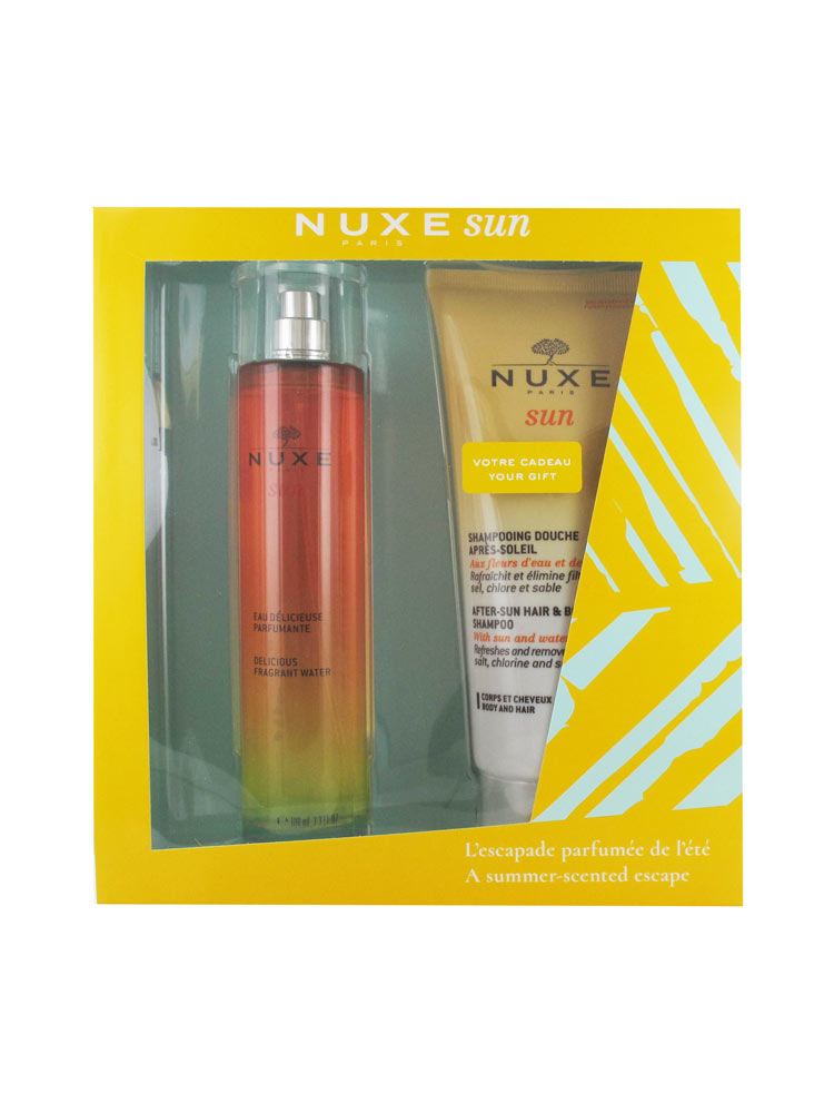 54c32b64af3 Nuxe Sun Delicious Fragrant Water 100ml + After-Sun Hair & Body Shampoo  200ml Offered